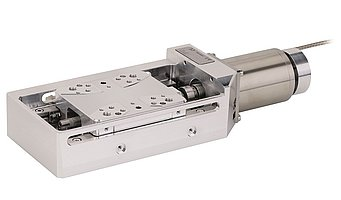 UHV to 10-9 hPa: Precision linear stage L-509 for travel ranges from 26 to 102 mm and a repeatability to 0.1 µm.