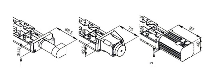 PI LS-65 Motor Drawing