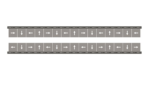 Magnetic track with U-profile, shaped in Halbach array for high forces and a reduced weight